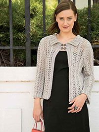 Silver Lace Cardigan Digital Pattern from CrochetandKnitShop.com