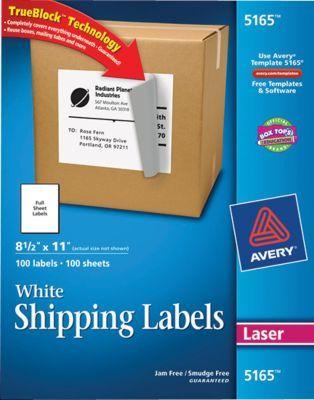 Avery TrueBlock Laser Shipping Labels, 11