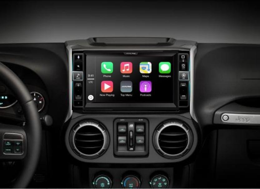 Alpine I109 Wra 9 Jeep Wrangler Apple Carplay Deck Coming Soon