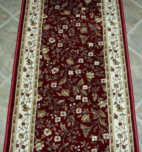 101230 Rug Depot Traditional Oriental Hall Runner Remnant 26 X 16 Red Background Radici Como 1593 Red Ha With Images Area Rug Decor Area Rug Pad Green And Grey