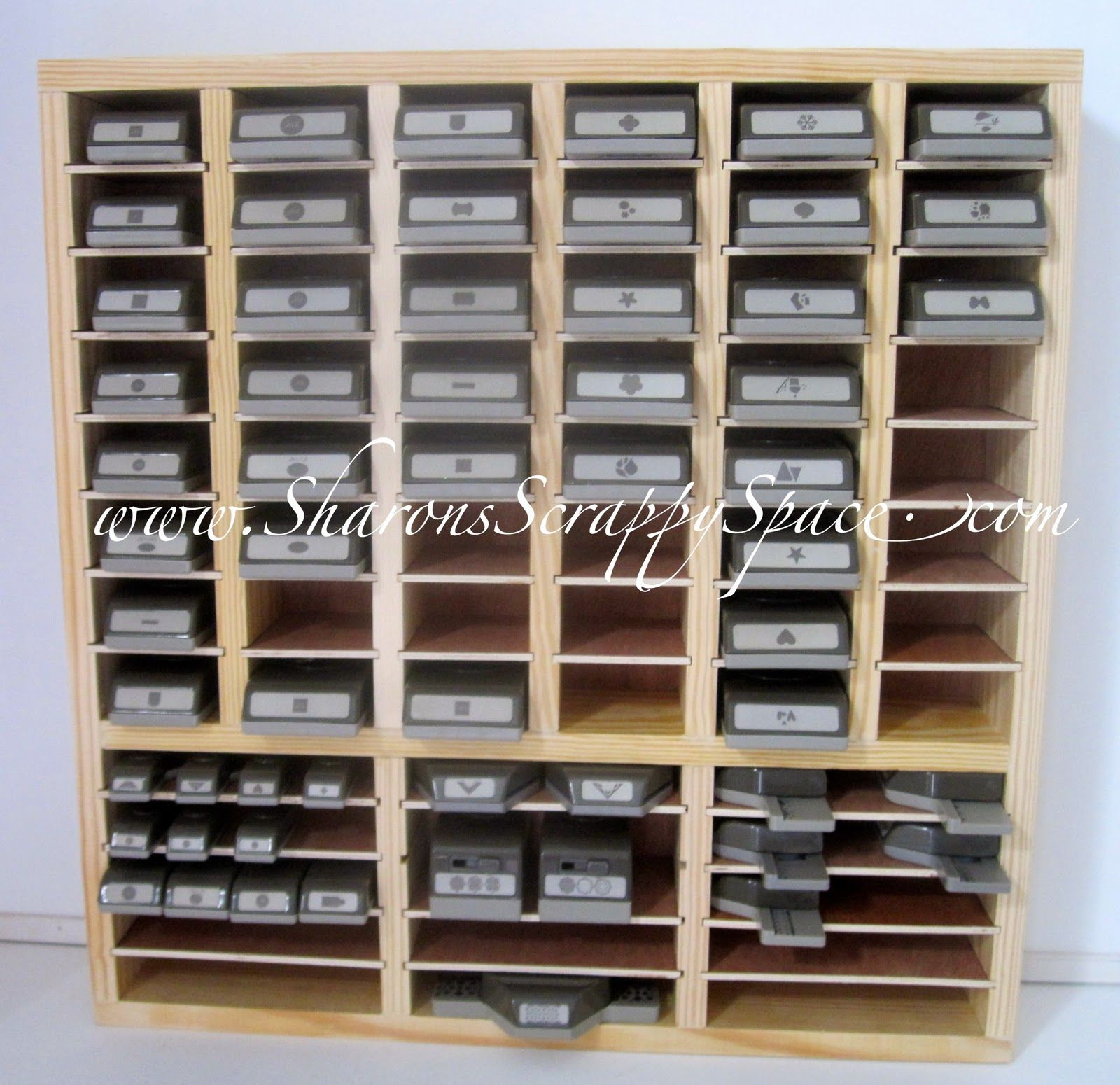 Sharon S Scrappy Space Punch Storage Units For Sale Punch Storage Scrapbook Storage Craft Room Decor