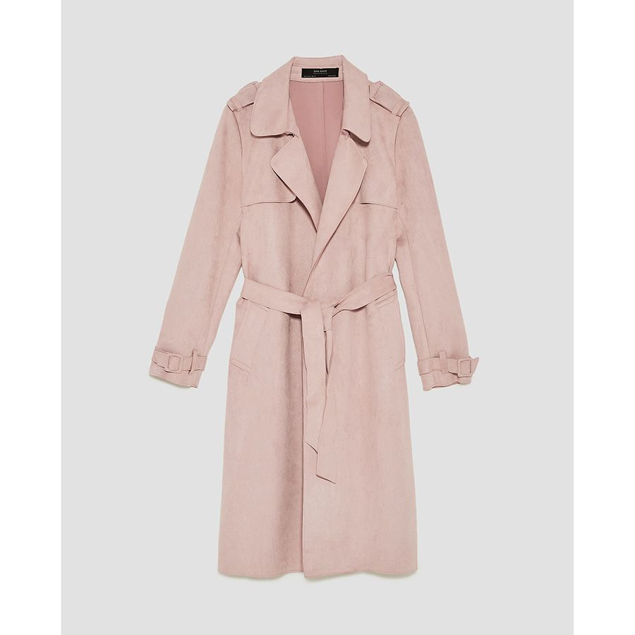 9a721aa4341 Trench efecto ante ROSA MILLENIAL