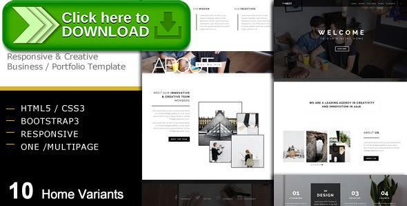 Free nulled thenext creative business portfolio template download wajeb Images