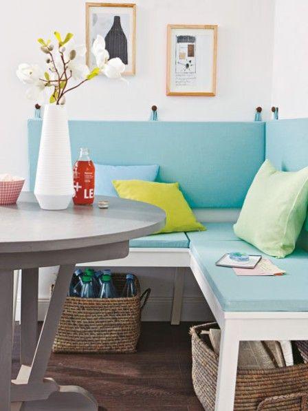 wohnideen f r die k che in pastell k che pinterest wohnen essecke und kuchen. Black Bedroom Furniture Sets. Home Design Ideas