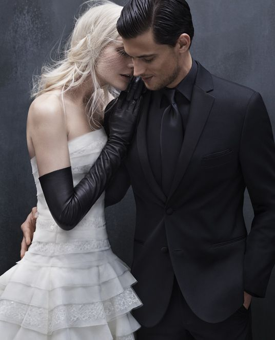 Designer Men\'s Tuxedo Collection, Black by Vera Wang | Wedding ...