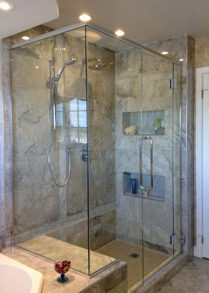 r novation de salle de bain douche en verre et en c ramique bathroom renovation italian