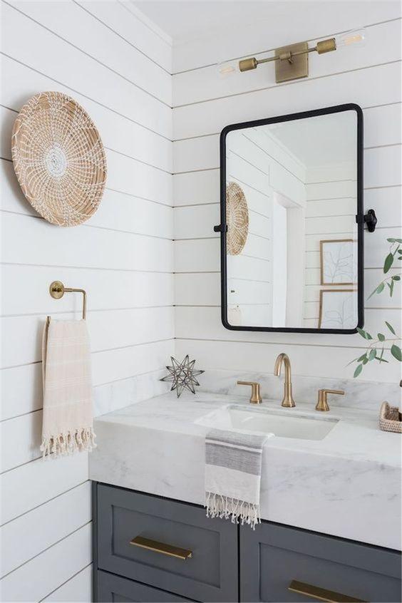 45 Stylish Bathroom Mirror Ideas That Are As Pretty As You Small Bathroom Remodel Bathrooms Remodel Trendy Bathroom