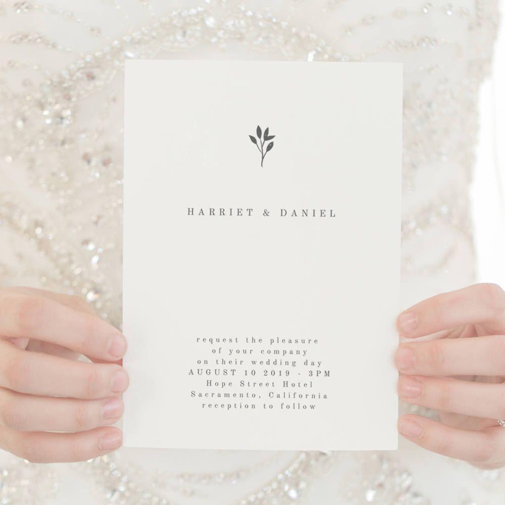 Simple Wedding Invitation Template Printable Wedding Invitation ...