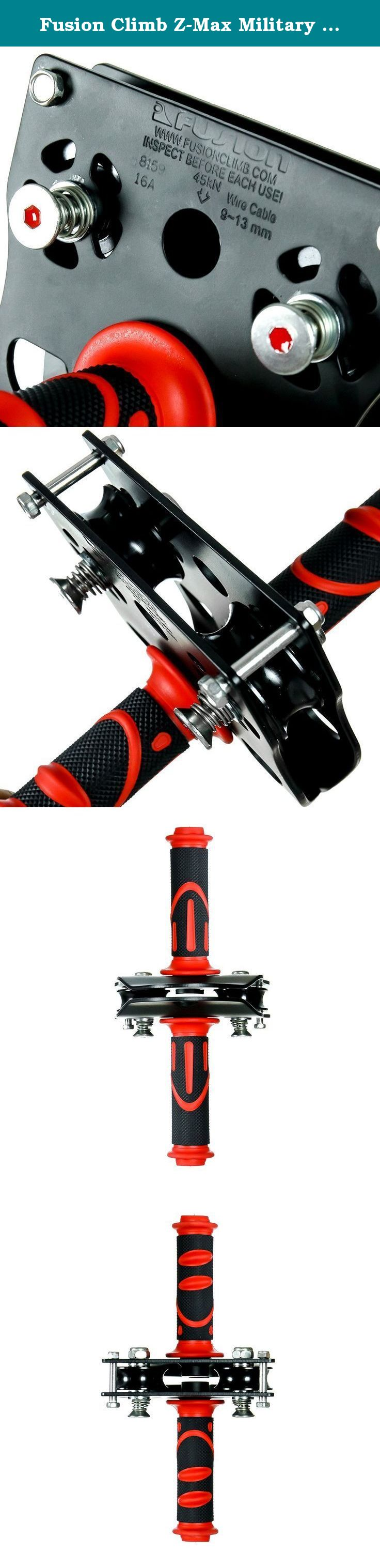 fusion climb z max military stainless steel zip line speed trolley
