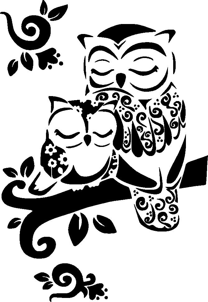 совушки картинки трафареты степень