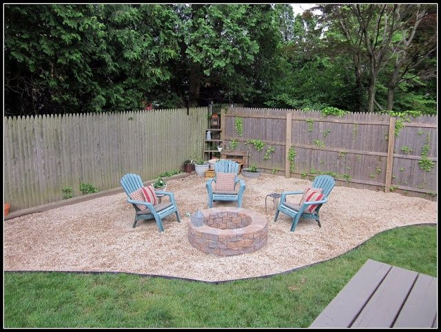 Diy fire pit yards backyard and pea gravel for Gravel fire pit area