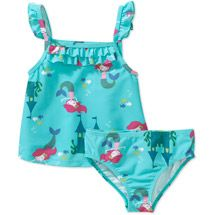066e887e56 Walmart: Child of Mine by Carters Baby Girls 2-Piece Tankini Swimsuit