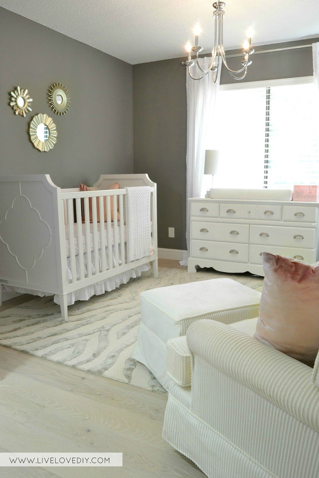 Pink Gray Nursery With 39 Benjamin Moore Chelsea Gray