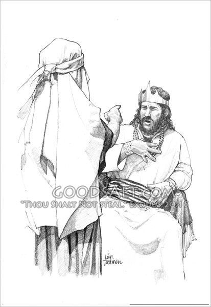 God's servant Nathan tells King David a parable about a
