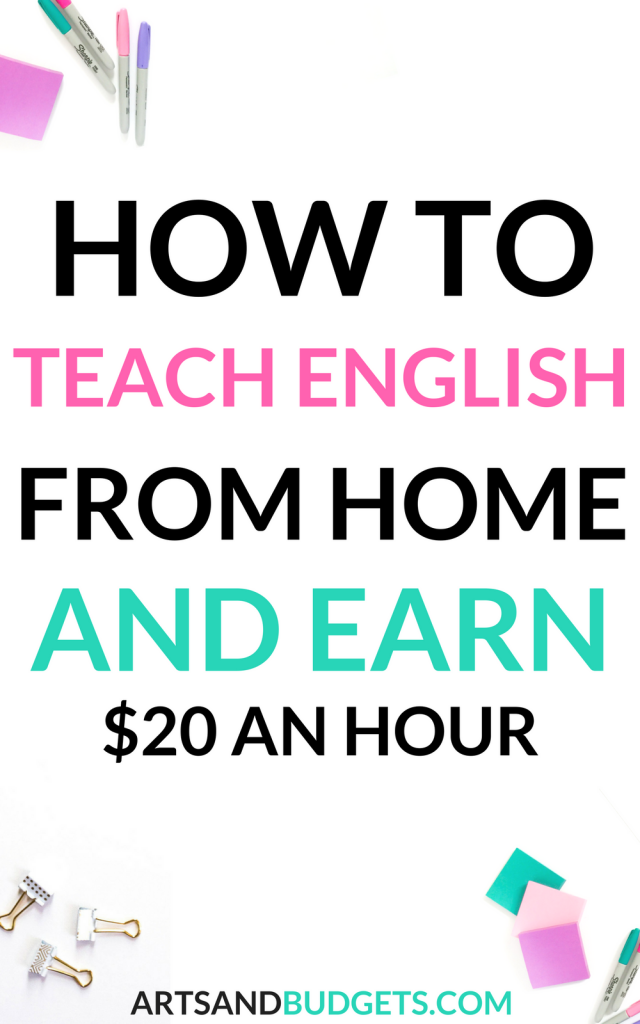 How to Teach English from Home and Earn $20 an Hour | Money fast ...