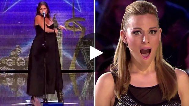 Incroyable Talent en Espagne - Cristina Ramos commence sa prestation avec un chant lyrique harmonieux et doux puis déchire sa robe et continue avec du AC/DC à plein poumon. Grosse performance que d'être à la fois chanteuse d'opéra et hard rockeuse.