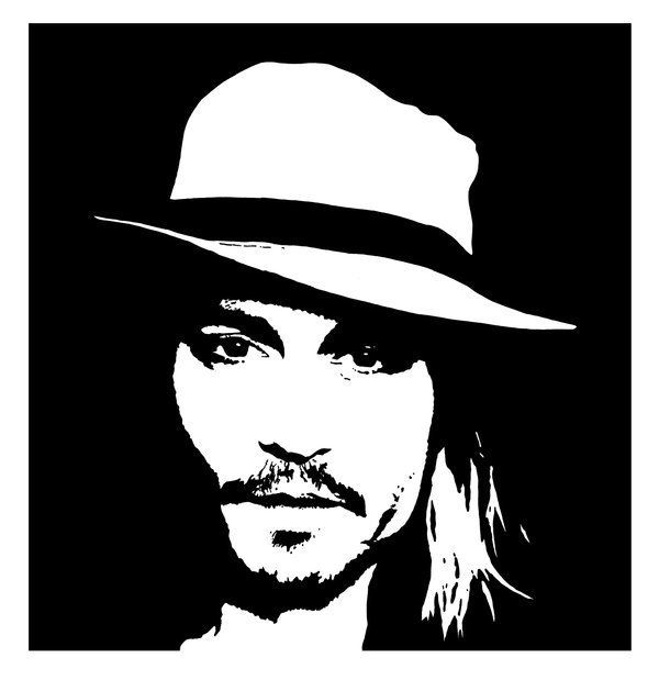 Black and white artwork johnny black and white johnny depp fan art 19638601