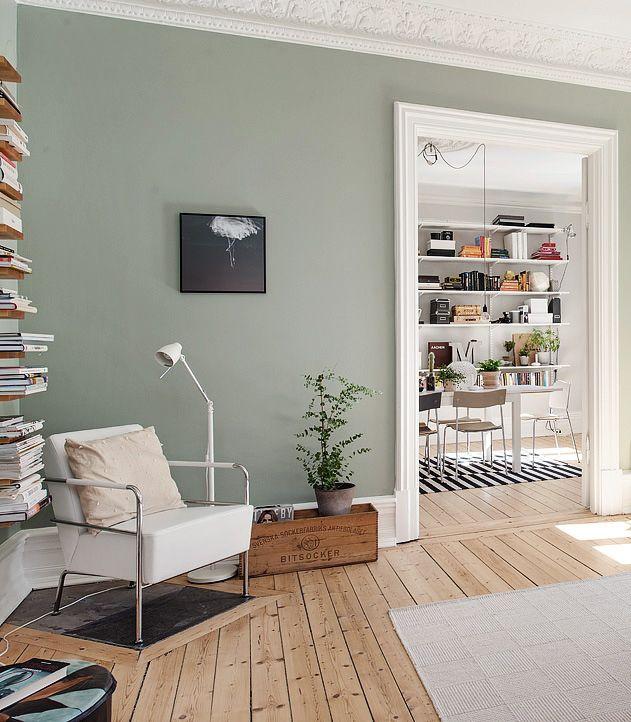 green walls   nordic • scandinavian interiors   Pinterest   Green ...