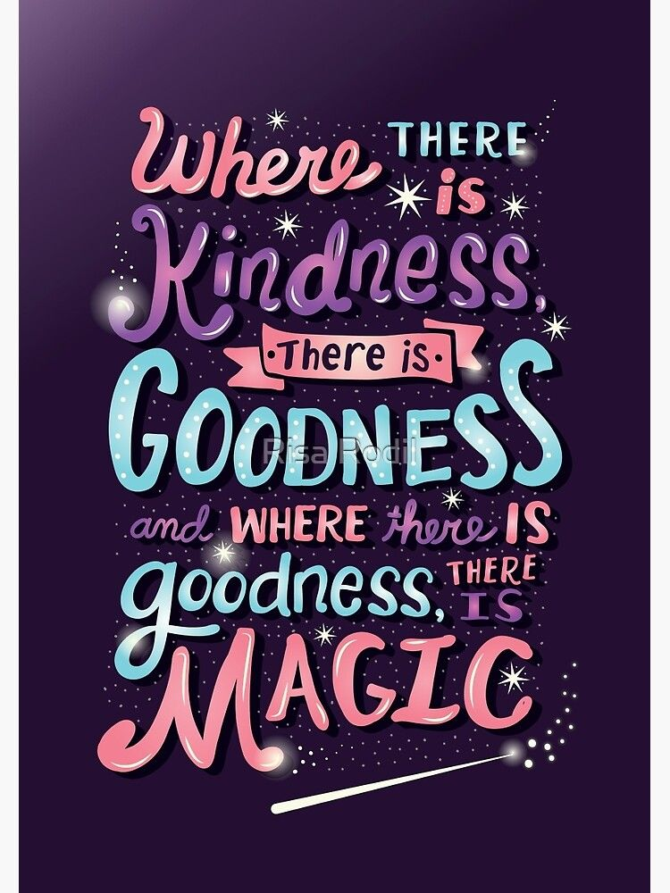 Kindness, Goodness, & Magic Spiral Notebook by Risa Rodil