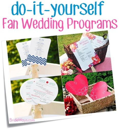Make your own wedding day fan programs with these easy kits for the make your own wedding day fan programs with these easy kits for the diy bride this solutioingenieria Images