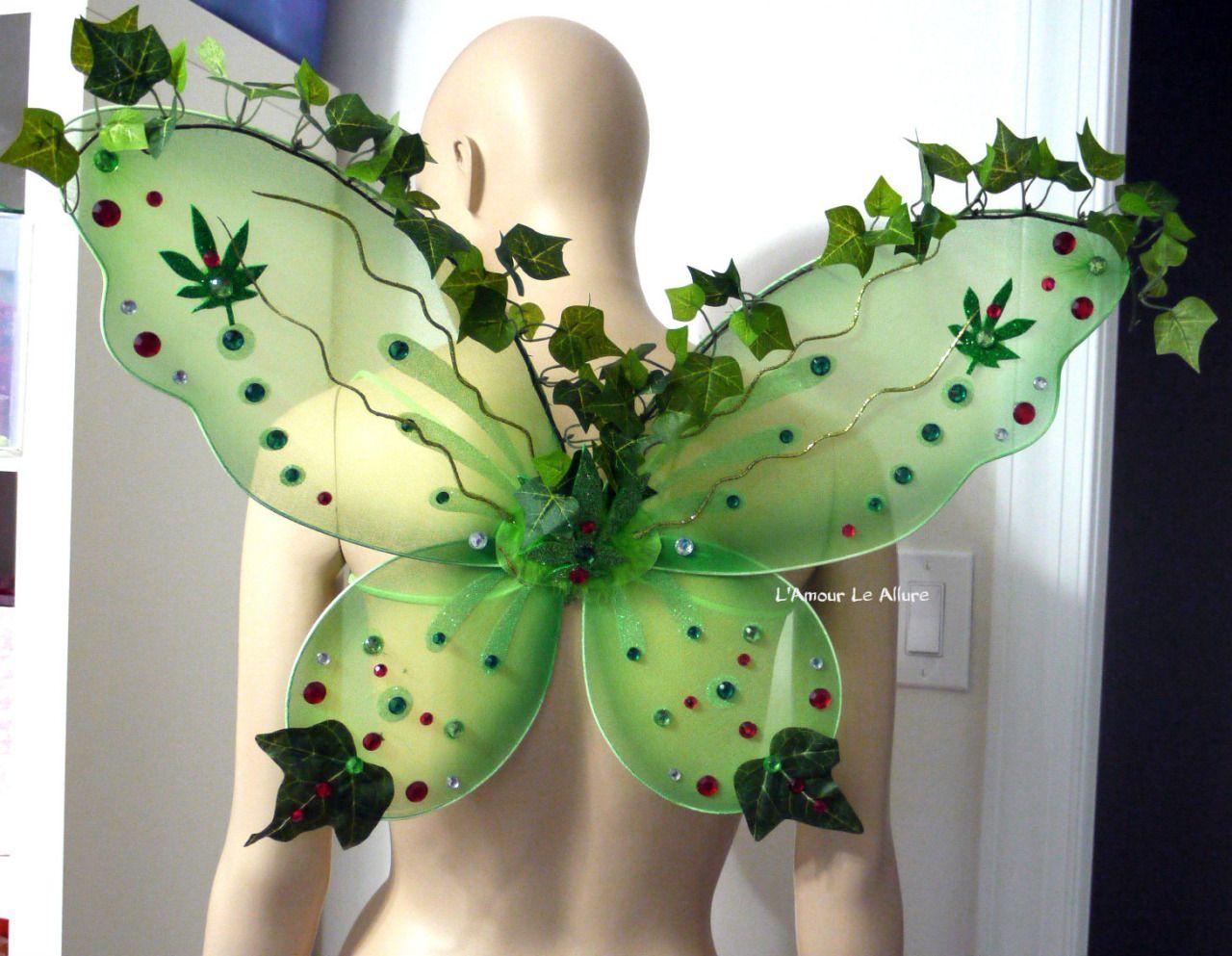 Pot Leaf Weed Fairy Wings Backpack, Fairy Wings, Carnival, Dance ...
