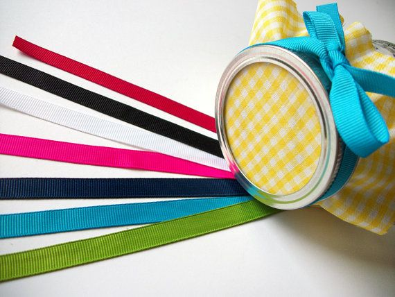 12 ribbons for mason canning jars wedding favors by CanningCrafts, $3.00