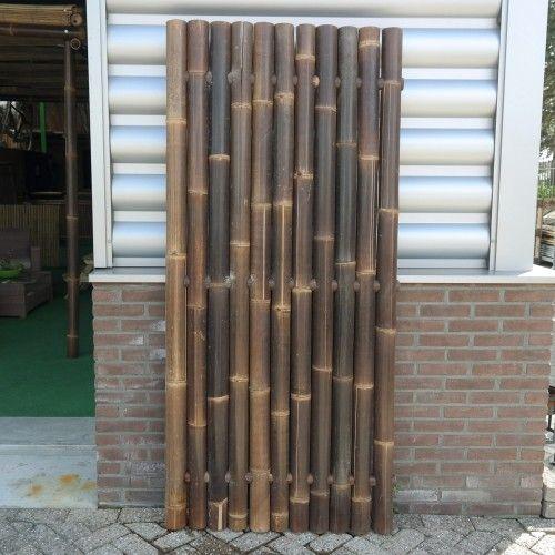 Restpartij zwarte bamboe schutting Giant 90 x 200 cm in