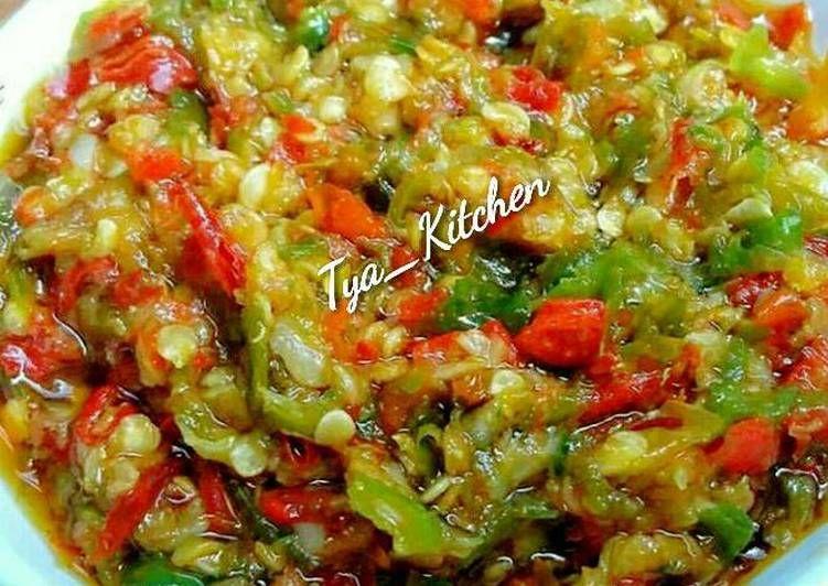 Resep Sambal Kemiri Oleh Tya Kitchen Resep Tomat Tumis Resep
