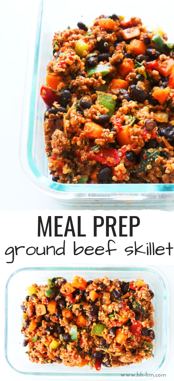 Meal Prep Ground Beef Skillet Recipe This Healthy Dinner Recipe With Ground Beef Qui Ground Beef Recipes Healthy Healthy Beef Recipes Dinner With Ground Beef
