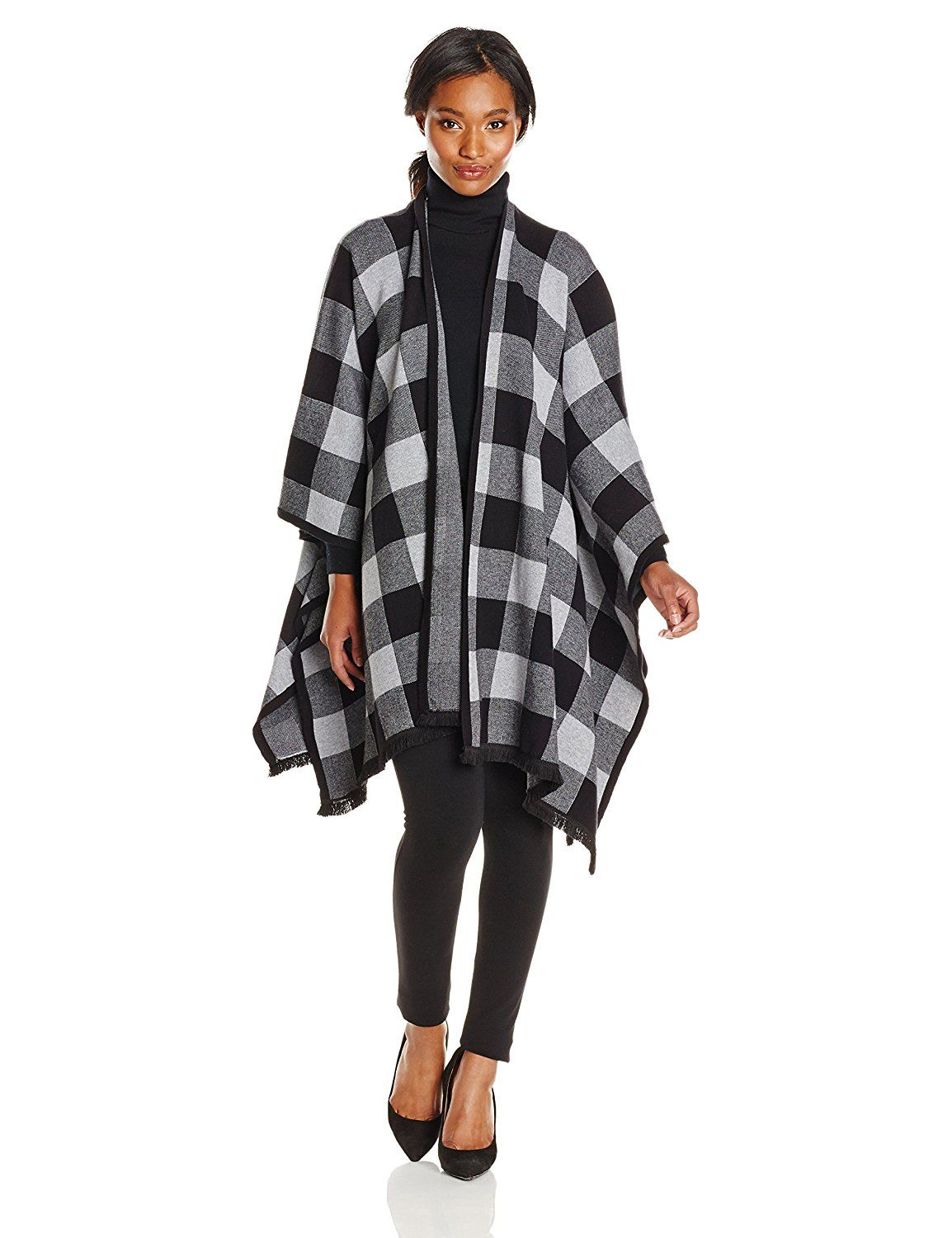 Kensie Women's Soft Cotton Blend Blanket Poncho Sweater *** Don't get left behind, see this great  product : Fashion