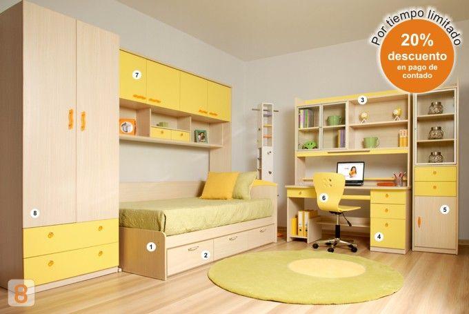 Modificación: doble cama y lo demás queda igual en la combinación de ...