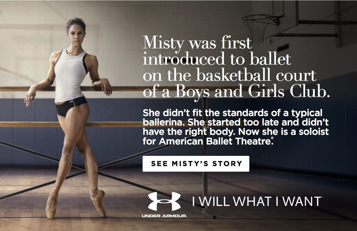 Misty Copeland Takes Center Stage For Under Armour