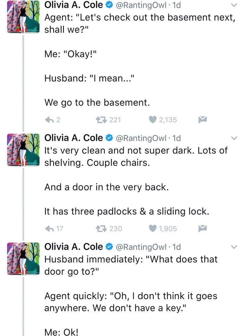 Woman Live Tweets Open House Visit Gone Horrifically Wrong