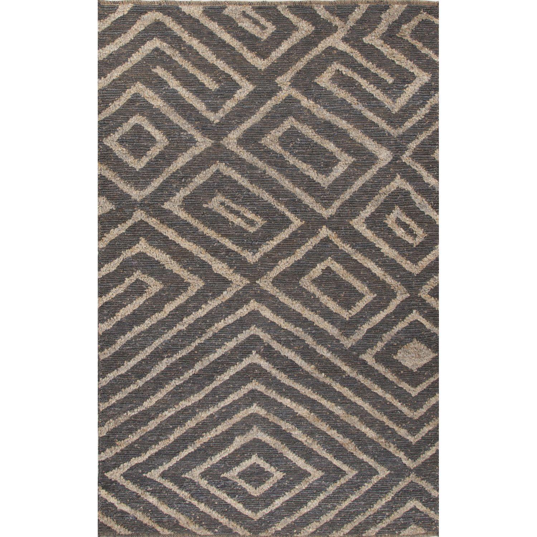 Jaipur Living Nikki Chu Naturals Tribal Pattern Gray/Taupe Jute Area Rug (8x10) (8' x 10'), Grey, Size 8' x 10'