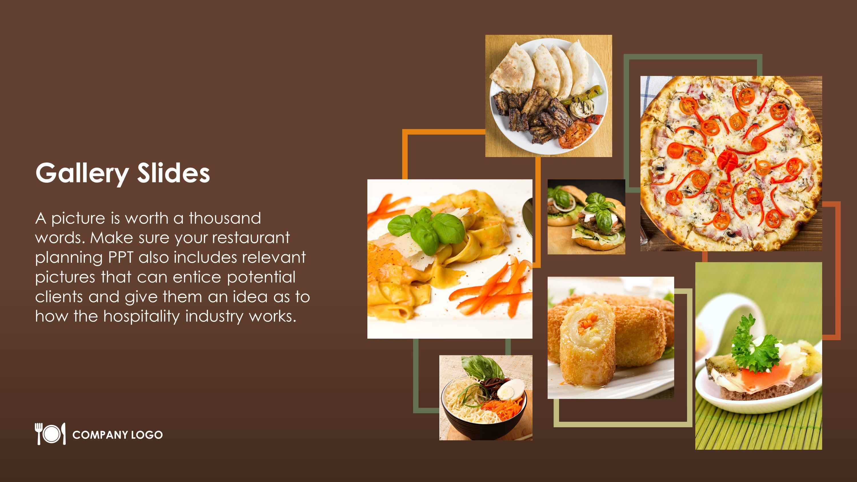 Free Restaurant Gallery Slides PowerPoint Slide Free