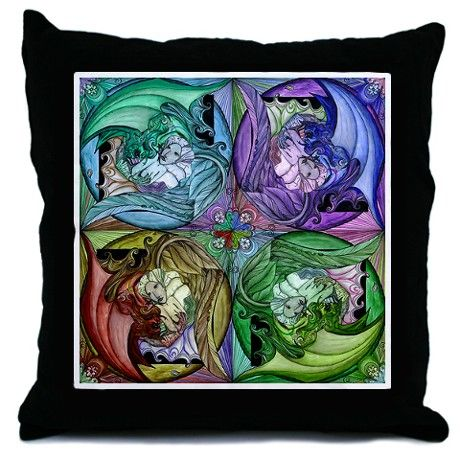 Angels and Devils - Throw Pillow