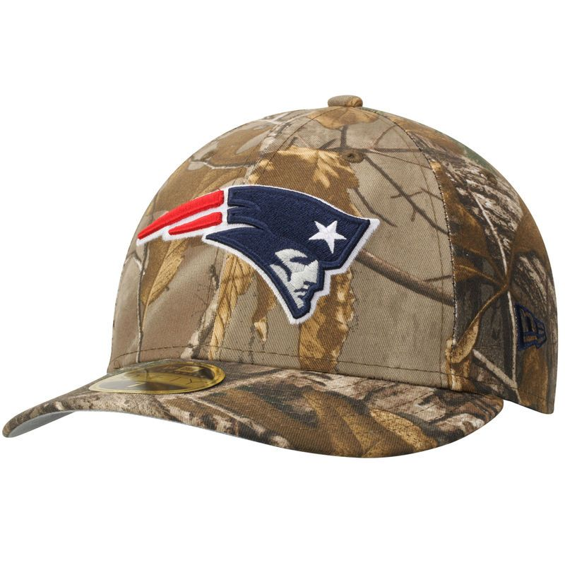 81d389a019d New England Patriots New Era Low Profile 59FIFTY Hat - Realtree Camo ...