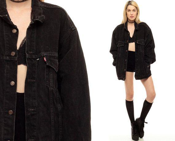 Image result for oversized black denim jacket | Clothes ...