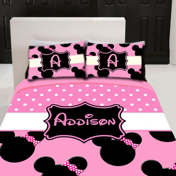 minnie mouse custom personalized bedding set by 3psinapod2011