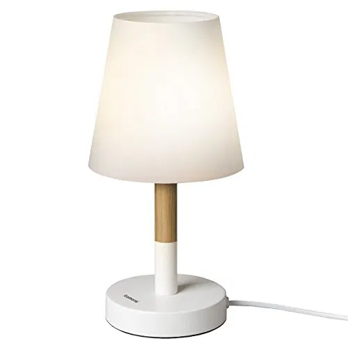 Tomons Bedside Led Table Lamp Dresser Fabric Shade Desk Lamp Solid Wood Lamp For Bedroom Living Room Dorm Coffee Table White Lamp Table Lamp Wood Wood Lamps