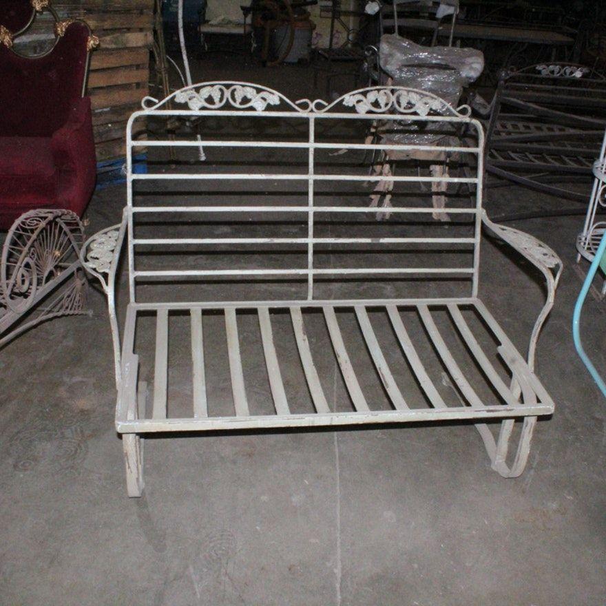 vintage metal patio loveseat frame