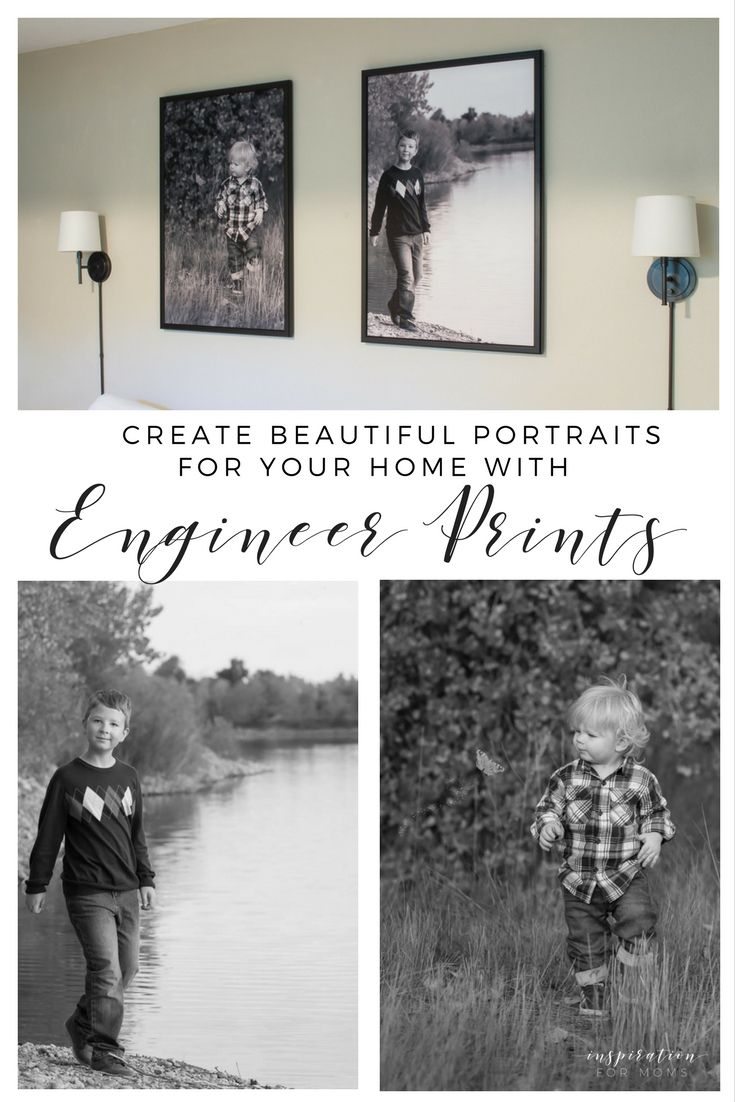 How to's : Create beautiful portraits for your home (for cheap) with engineer prints!