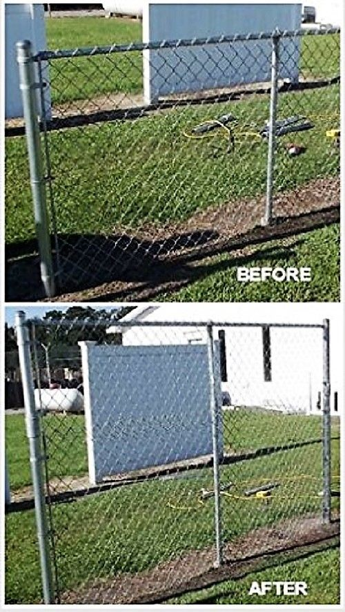 This Chain Link Fence Extension Kit Is Custom Fabricated On Site