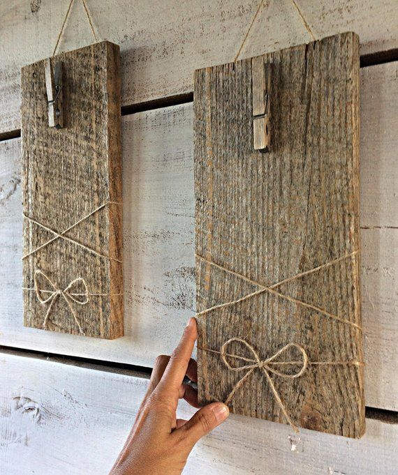 Photo of Reclaimed Wood Picture Frame, Farmhouse Wall Decoration, Distressed Wood Frame, Barnwood Wall Hanging, Wood Picture Frame, Barnwood Frames