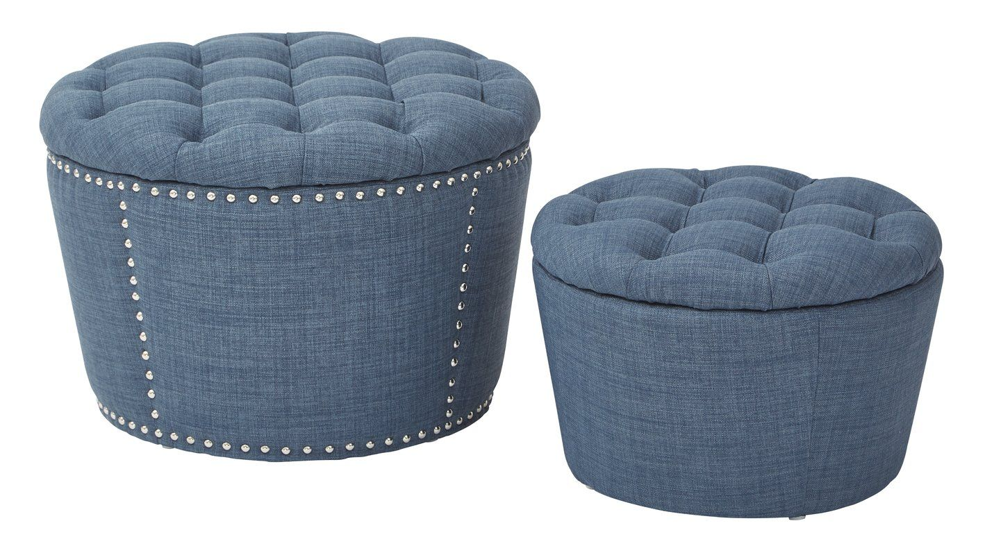 Evangelina Tufted 2 Piece Storage Ottoman Ottoman Set Tufted