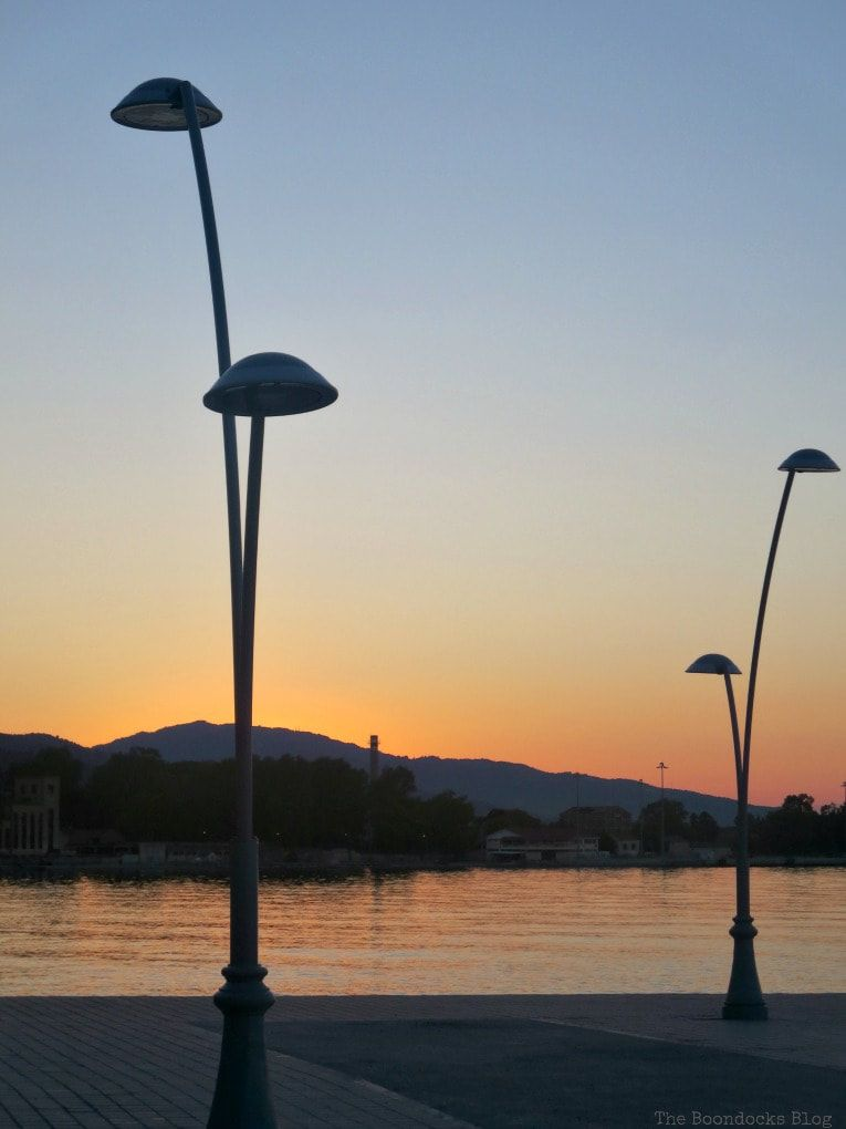 sunset at the waterfront, Greece, Photo of the Day for August, theboondocksblog.com
