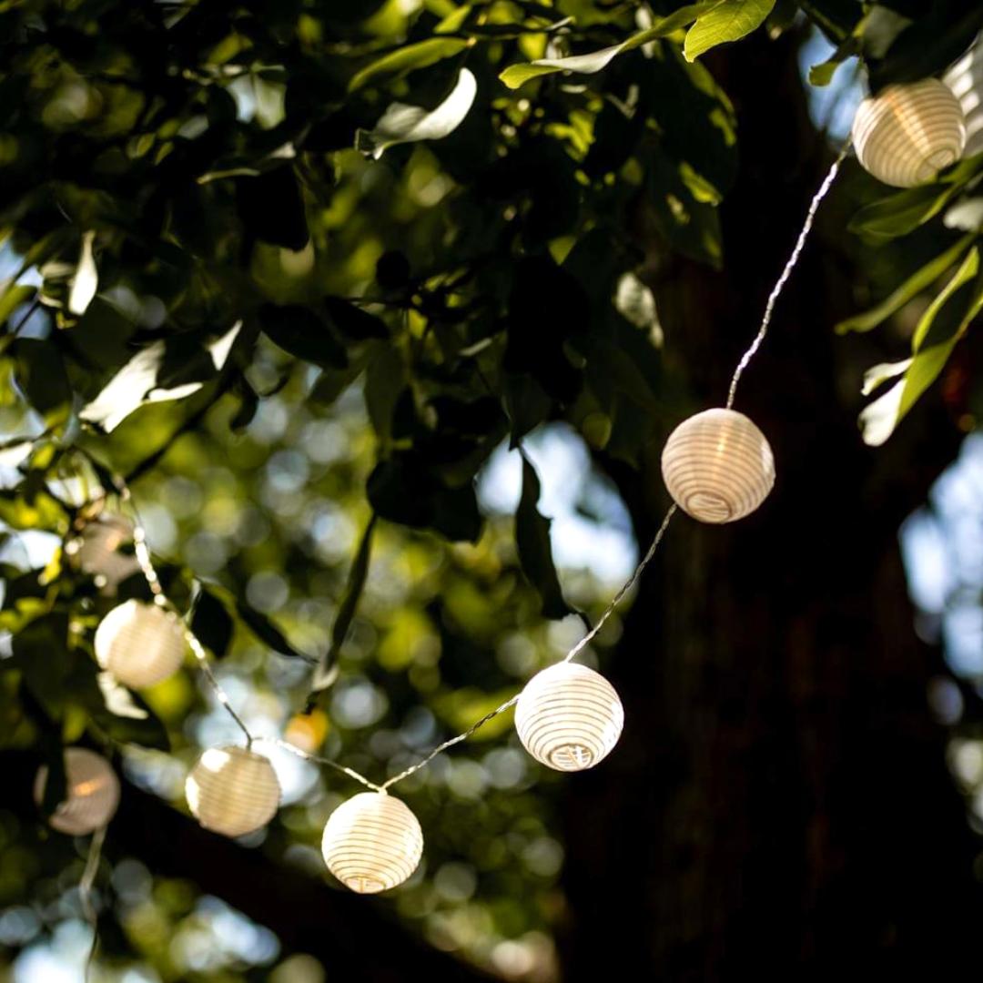 Lampions Lichterkette Garten Deko Gartenparty Leuchten Lichter Papier Papierlampions Lampenschirme Ter Led Lampions Lampion Lichterkette Led Laterne