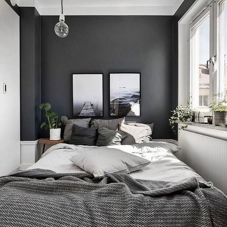 23 Grey Bedrooms That Are Far From Boring Small Master Bedroom Bedroom Interior Home Decor Bedroom