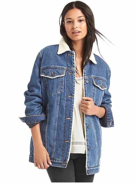 dedfefafae83 1969 icon long sherpa-lined denim jacket
