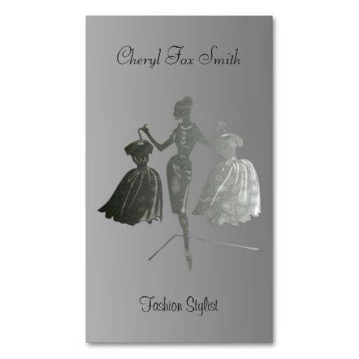 Pink Fashion Hairdresser Business Card: Fashion Stylist Business Card